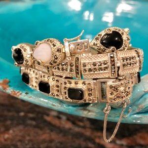 Jewelry - SILVER, OBSIDIAN, MARCASITE 3 (pc.) SET